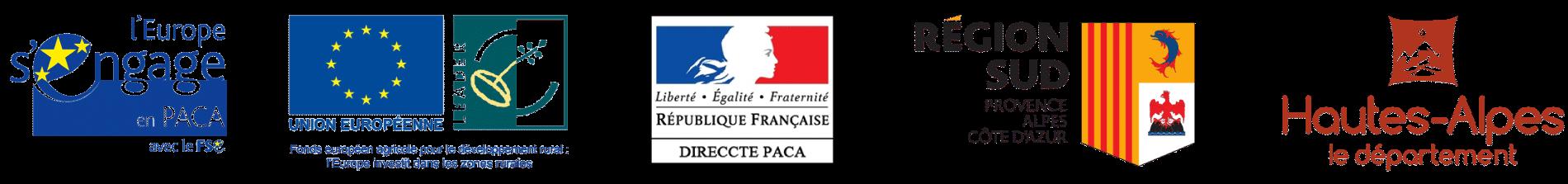 logo des partenaires financiers du gabion
